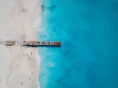 Grace Bay Beach, na ilha de Providenciales.