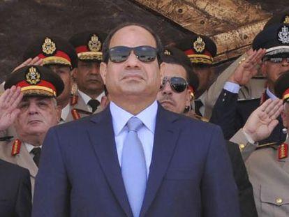O presidente egípcio, em uma formatura militar no Cairo, em junho de 2014.