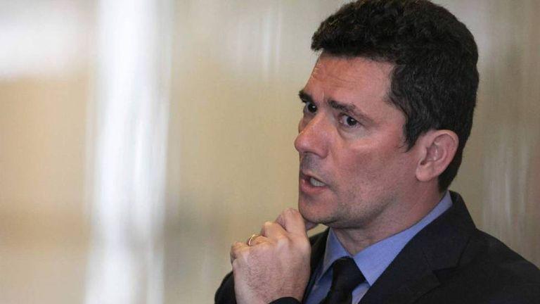 O ministro Sergio Moro no Palácio do Planalto.