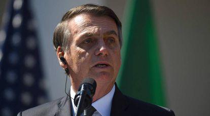 O presidente Jair Bolsonaro, na última terça em Washington.