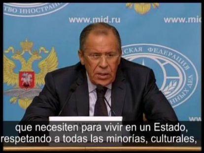 O ministro de Relações Exteriores russo, Serguei Lavrov, anuncia as novas medidas