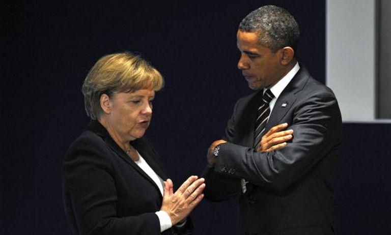 Merkel e Obama na cúpula do G20 de 2011.