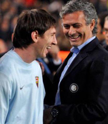 Messi e Mourinho em 2009.