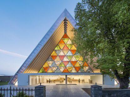 A catedral anglicana de Christchurch, construída na Nova Zelândia por Shigeru Ban.