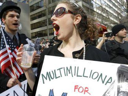 O movimento 'Occupy Wall Street' em Nova York.