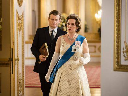 Olivia Colman como a rainha Elizabeth II na terceira temporada de 'The Crown'.