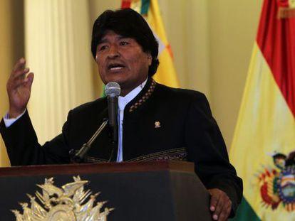 O presidente boliviano, Evo Morais
