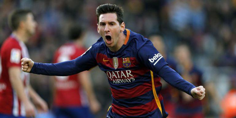 Messi comemora gol de empate.