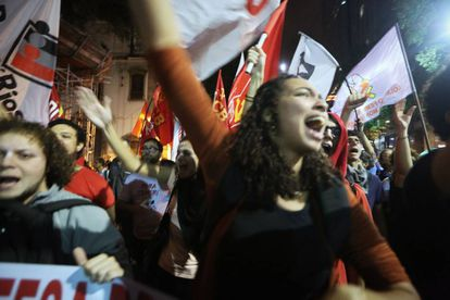 Manifestação no Rio de Janeiro contra o presidente Michel Temer, na quinta-feira, após divulgação de delação de dono da JBS.