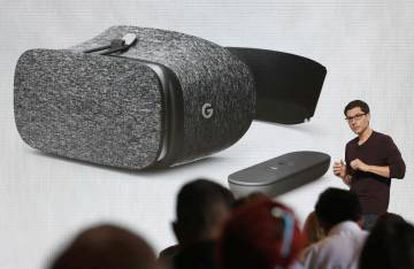 Clay Bavor, vice-presidente de Realidade Virtual do Google, apresenta o Daydream View VR
