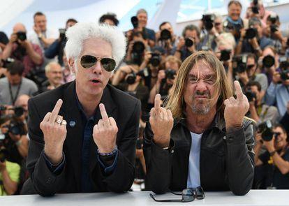Jim Jarmusch (esquerda) e Iggy Pop, em Cannes.