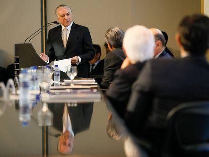 Temer, durante seminário em Brasília.