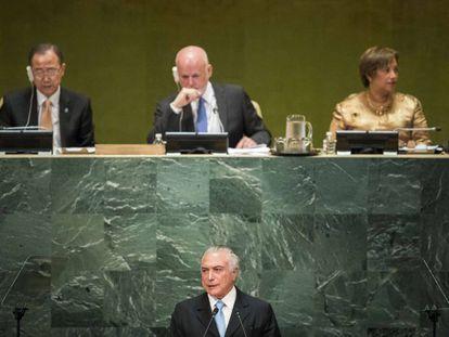 Michel Temer na sede da ONU