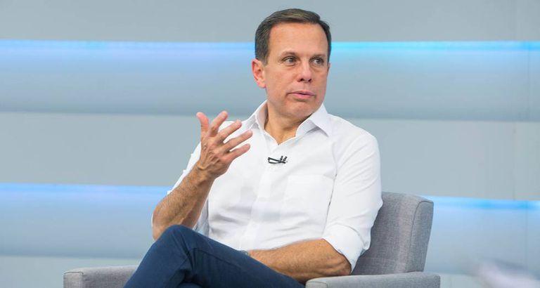 João Doria, durante a sabatina realizada pelo EL PAÍS e TV Brasil.
