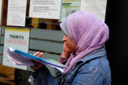 Imigrante muçulmana em Barcelona em 2010.