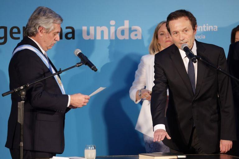 Alberto Fernández e Gustavo Béliz, em 2019.