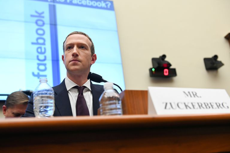 O fundador do Facebook, Mark Zuckerberg, no Congresso dos Estados Unidos, em outubro de 2019.