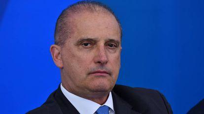 O deputado Onyx Lorenzoni em reunião no Planalto.