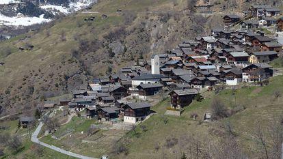 Vista da localidade de Albinen, na Suíça