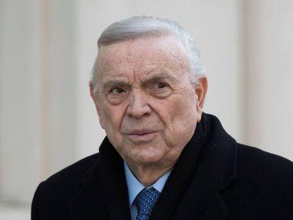 José Maria Marin antes do julgamento nesta quarta-feira, 22 de agosto.