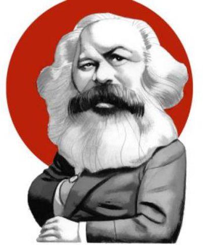 """Ilustração de Marx feita por Fernando Vicente para o livro 'O manifesto comunista"""", editado pela Nórdica"""