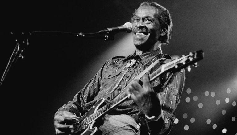 Chuck Berry, em 1995, durante um festival de jazz na Holanda.