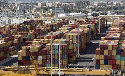 Contentores no porto de Valência, no passado mês de novembro.