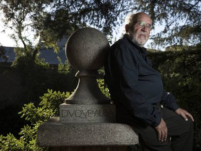 Michel Mayor na terça-feira na Residência de Estudantes (Madri), horas depois de saber que era um dos ganhadores do Nobel de Física.