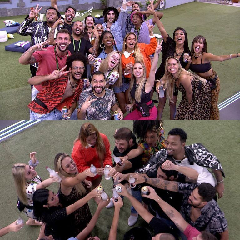 Fotos de festa no BBB 21.