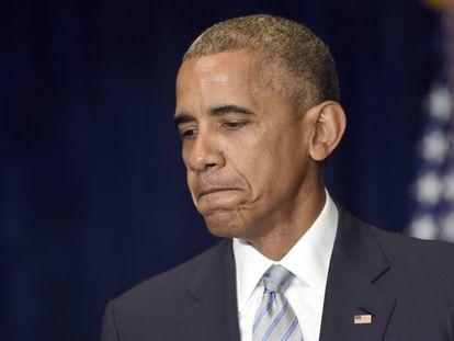 Obama, durante sua declaração depois de chegar a Varsóvia