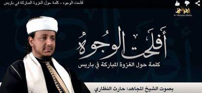 Fotograma do vídeo divulgado pela Al Qaeda com novas ameaças contra França.