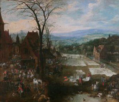 'Mercadero e lavadero', de Brueghel.