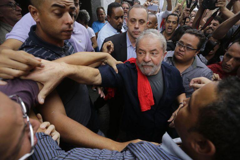O ex-presidente Lula, em foto do dia 4 de março, após depor na PF.