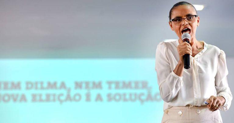 Marina Silva lança a campanha 'Nem Dilma, Nem Temer' em abril.