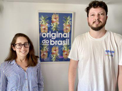 Yasmin Narcizo e o marido, André Vieira, ambos imigrantes brasileiros, na quinta-feira em Lisboa.