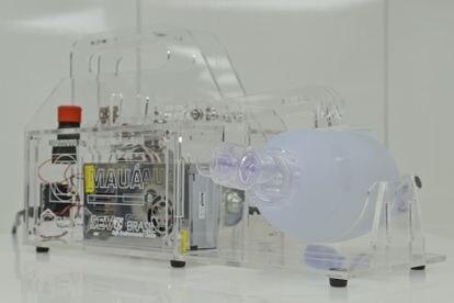 Respirador que está sendo desenvolvido pelo Instituto Mauá e a Mercedes-Benz.