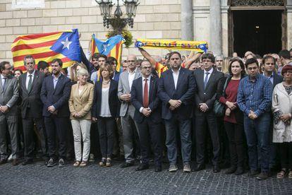 Concentração na Praça Sant Jaume do Governo da Catalunha