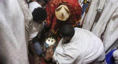 Um exorcismo em Lalibela.