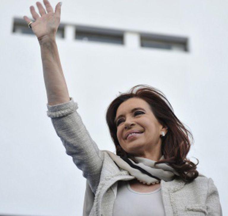 Cristina Fernández, durante um ato em La Plata.