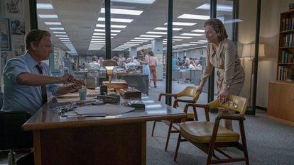 Tom Hanks e Meryl Streep, em cena de 'Os arquivos do Pentágono'