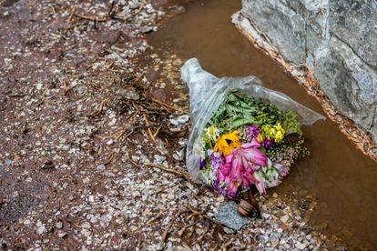Flores em uma solitária homenagem ao bandeirante.