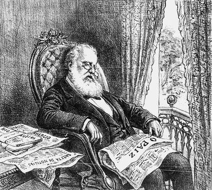 Embora jornais o ridicularizassem, D. Pedro II não perseguia a imprensa (imagem: Biblioteca Nacional Digital)