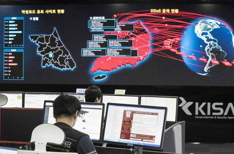 Agência de segurança cibernética da Coreia do Sul, em Seul.