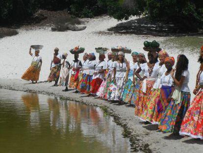 O grupo baiano 'As ganhadeiras de Itapuã'.