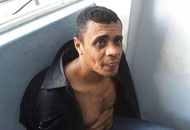 Adélio Bispo de Oliveira após ser preso.