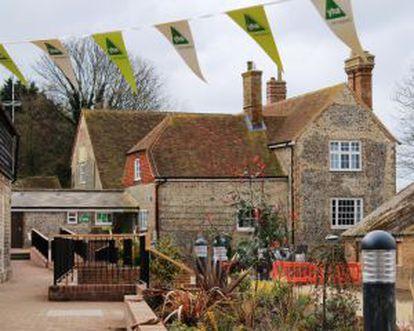 South Downs, em Sussex (Reino Unido), uma antiga granja reabilitada como albergue.