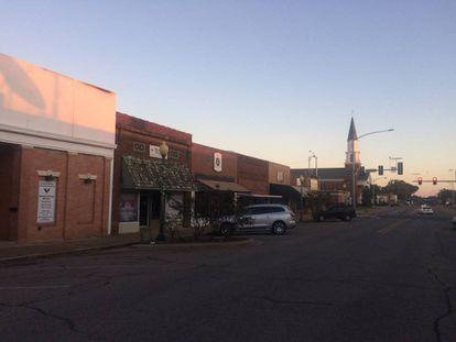 A rua principal de Hope (Arkansas).