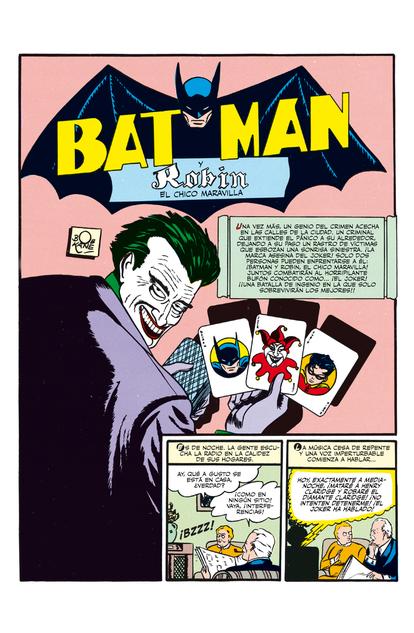 Primeira aparição de Coringa,em edição em espanhol de 'Batman 1' (abril de 1940).
