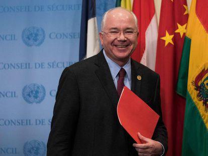 Rafael Ramírez, em Nova York em novembro de 2017, quando era embaixador da Venezuela na ONU.