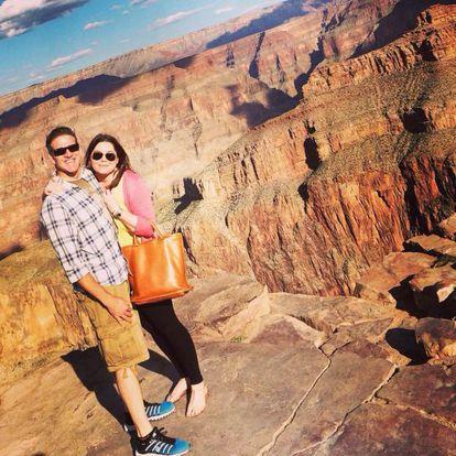 Brittany Maynard com o marido.